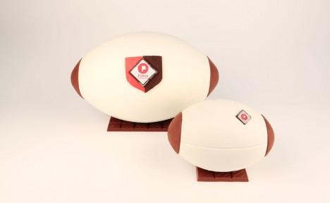 Ballon de rugby lait
