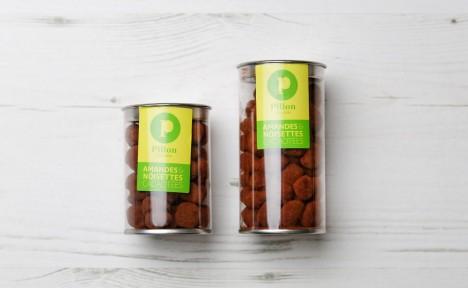 Amandes et noisettes cacaotées