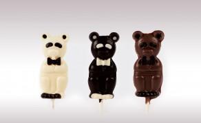 Sucette chocolat noir
