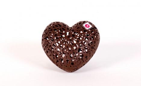 Coeur dentelle noir