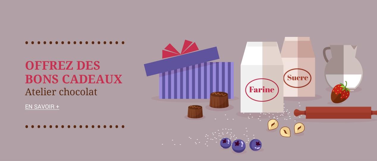 Offrez des bons cadeaux Atelier Chocolats