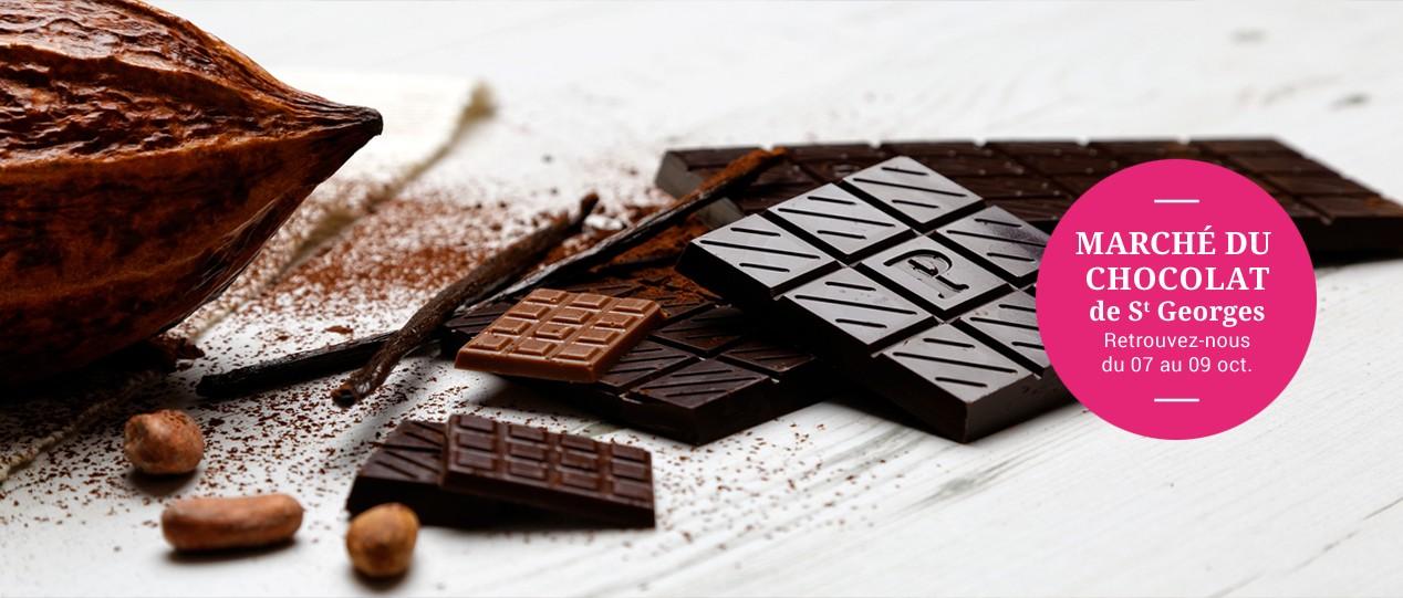 Marché au chocolat de St Georges - Retrouvez-nous du 07 au 09 octobre